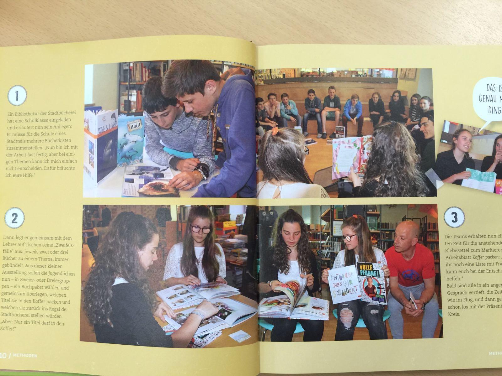 Unsere Bibliothek im Buch